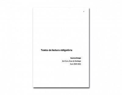 Textos lectura obligatoria geomorfología