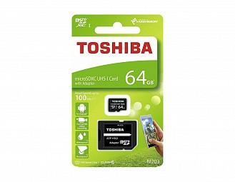 Tarjeta micro SD de 16Gb Toshiba con adaptador