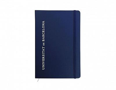 Libreta azul rayado